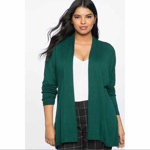 Eloquii Tie Waist Cardigan Green Size 14/16 0066